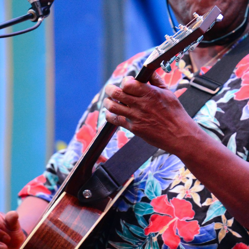 A guitarist playing